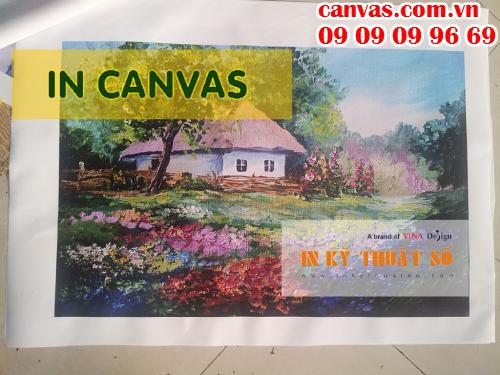 Dịch vụ in canvas cao cấp tại Công ty TNHH In Kỹ Thuật Số - Digital Printing