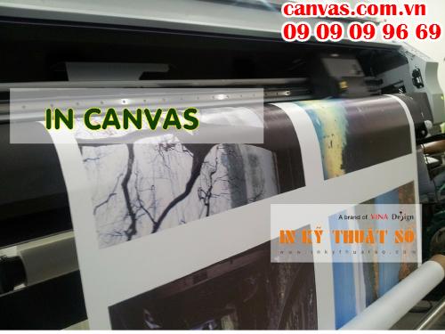 Bấm gửi email đặt in canvas với Công ty TNHH In Kỹ Thuật Số - Digital Printing