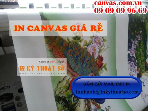 Bấm gửi email đặt in canvas giá rẻ với Công ty TNHH In Kỹ Thuật Số - Digital Printing