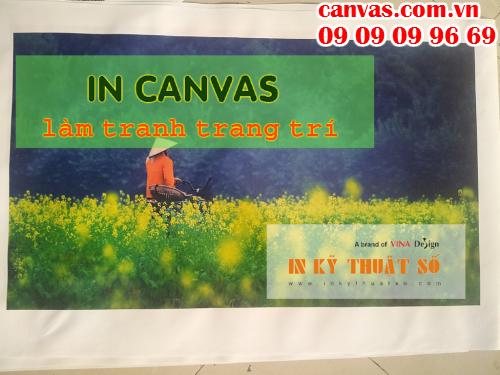 In canvas làm tranh treo tường tại Công ty TNHH In Kỹ Thuật Số - Digital Printing