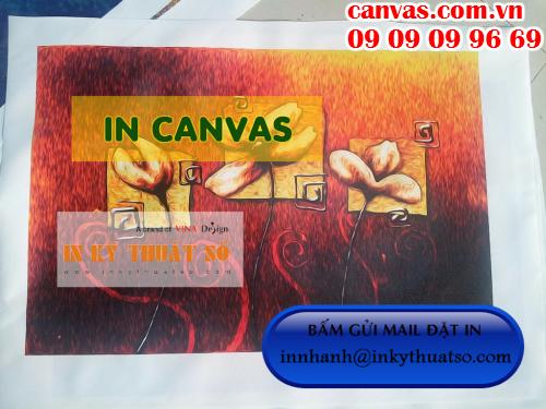 Bấm gửi email đặt in vải bố canvas giá rẻ với Công ty TNHH In Kỹ Thuật Số - Digital Printing