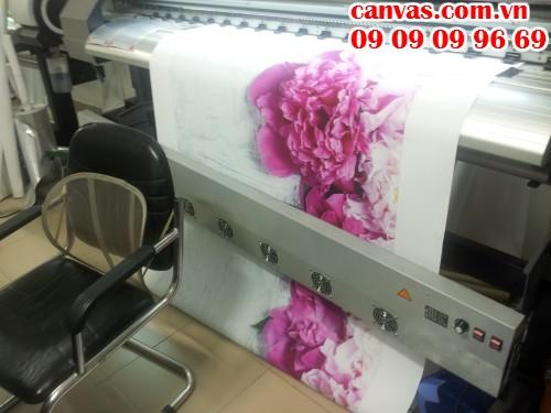 Trực tiếp in canvas trên hệ thống máy in của In Kỹ Thuật Số