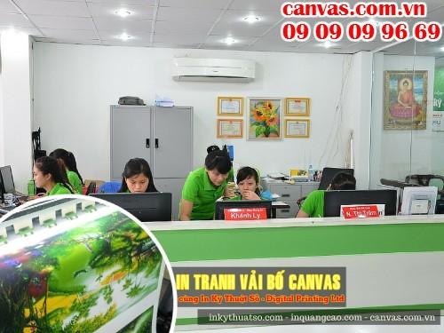 Trung tâm in tranh canvas tại 365 Lê Quang Định, P.5, Q.Bình Thạnh, Tp.HCM