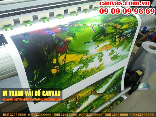 Tranh canvas mực nước, in khổ lớn, trực tiếp in ấn tại Công ty TNHH In Kỹ Thuật Số - Digital Printing Ltd