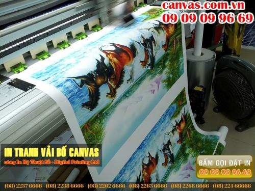 Tranh canvas, in tranh phong thủy canvas tại In Kỹ Thuật Số