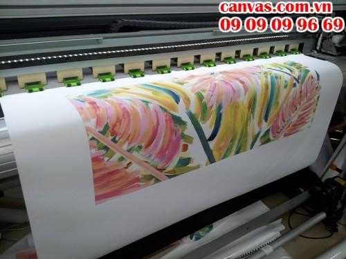 In tranh canvas trang trí văn phòng hình ảnh độc đáo, màu sắc hài hòa được gia công in ấn trọn gói tại công ty In Kỹ Thuật Số