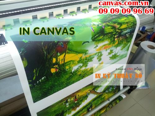 In tranh canvas treo tường tại Công ty TNHH In Kỹ Thuật Số - Digital Printing