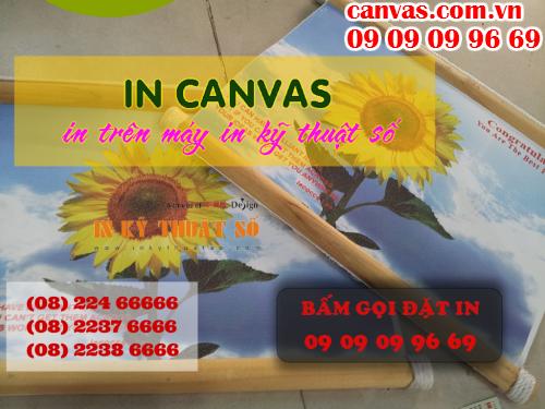 Bấm gọi đặt in tranh canvas giá rẻ làm phông nền sảnh lễ tân với Công ty TNHH In Kỹ Thuật Số - Digital Printing
