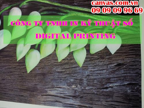 in tranh canvas giá rẻ làm phông nền sảnh lễ tân với Công ty TNHH In Kỹ Thuật Số - Digital Printing