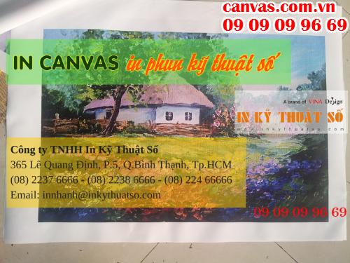 Liên hệ in tranh canvas giá rẻ làm phông nền sảnh lễ tân với Công ty TNHH In Kỹ Thuật Số - Digital Printing