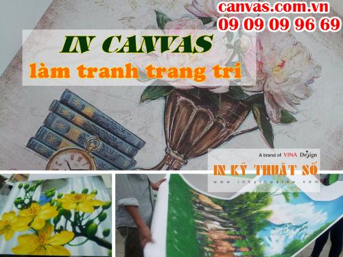 In tranh treo tường khổ lớn với chất liệu canvas tại HCM