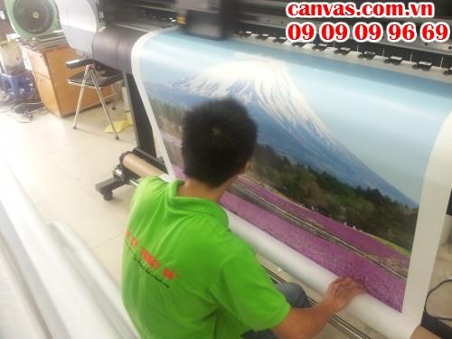 Tranh canvas hình núi Phú Sĩ Nhật Bản - trực tiếp in trên máy Mimaki Nhật tại In Kỹ Thuật Số