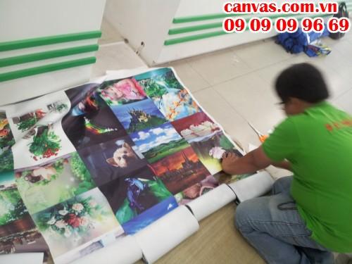In canvas mực dầu giá rẻ tại In Kỹ Thuật Số