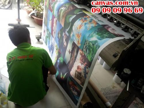 Tranh canvas mực dầu giá rẻ tại In Kỹ Thuật Số