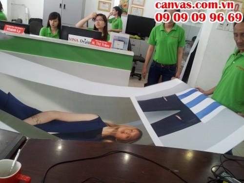 Trung tâm in tranh canvas của In Kỹ Thuật Số tại 365 Lê Quang Định, P.5, Q.Bình Thạnh, Tp.HCM